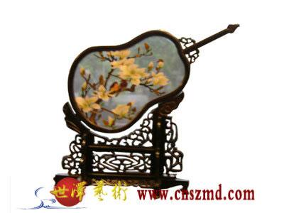 竹节边框木雕琴棋书画屏风